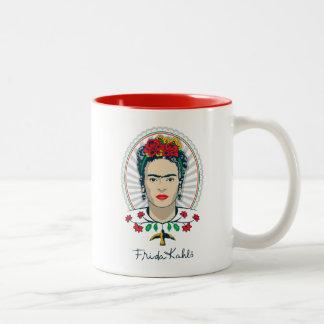 Tasse 2 Couleurs Floral vintage de Frida Kahlo |