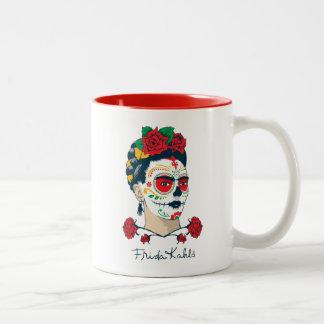 Tasse 2 Couleurs Frida Kahlo | El Día de los Muertos
