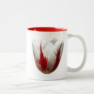 Tasse 2 Couleurs Gardez le calme et la tulipe sur la tulipe du