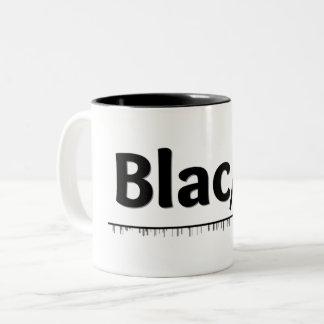 Tasse 2 Couleurs Geek noir de couleur