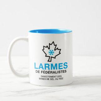 Tasse 2 Couleurs Humeur Canada de Larmes de Fédéraliste Québec