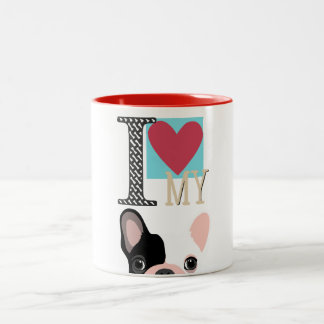 Tasse 2 Couleurs I love my frenchie