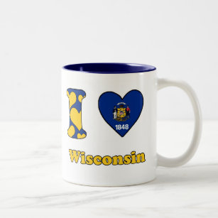 Tasse 2 Couleurs I love Wisconsin