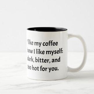 Tasse 2 Couleurs J'aime mon café comment je m'aime