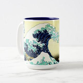 Tasse 2 Couleurs La grande vague outre de Kanagawa (神奈川沖浪裏)