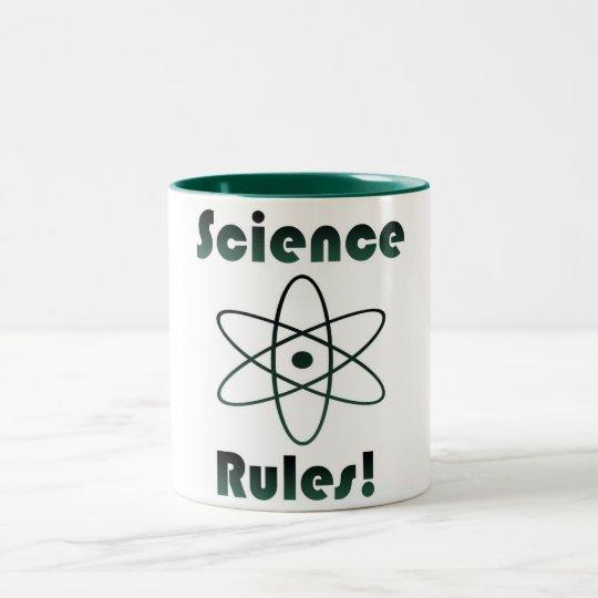 Tasse 2 Couleurs La Science ordonne le geek