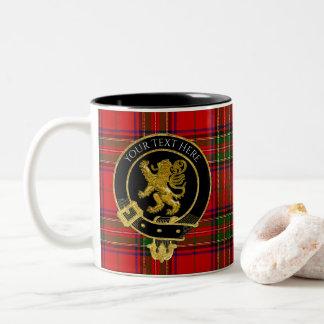 Tasse 2 Couleurs Le clan écossais Crest le tartan de lion