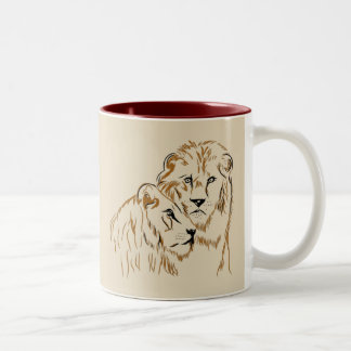 Tasse 2 Couleurs Lions