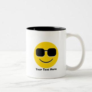 Tasse 2 Couleurs Lunettes de soleil fraîches Emoji