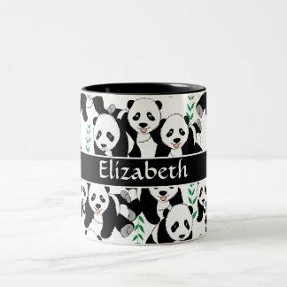 Tasse 2 Couleurs Motif graphique d'ours panda à personnaliser