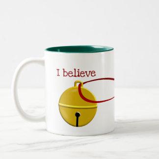 Tasse 2 Couleurs Noël drôle de café que je crois