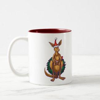 Tasse 2 Couleurs Nuit étoilée de Noël de kangourou