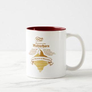 Tasse 2 Couleurs OR de jubilé d'année de Matterhorn 150th