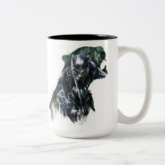 Tasse 2 Couleurs Panthère noire   dans la jungle