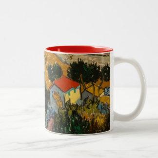 Tasse 2 Couleurs Paysage de Vincent van Gogh   avec la Chambre et
