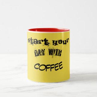 Tasse 2 Couleurs sourire de café