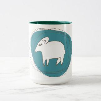 Tasse 2 Couleurs Un mouton dans les ovales