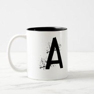 """Tasse """"A """" de monogramme"""