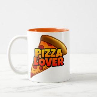 Tasse à deux tons d'amant de pizza (11 onces.)
