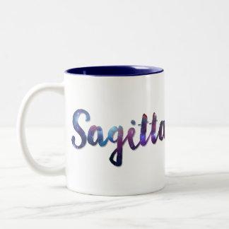Tasse à deux tons de Sagittaire