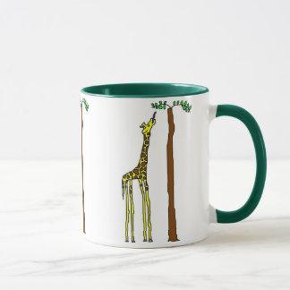 Tasse affamée de girafe