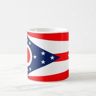 Tasse avec le drapeau de l'état de l'Ohio -