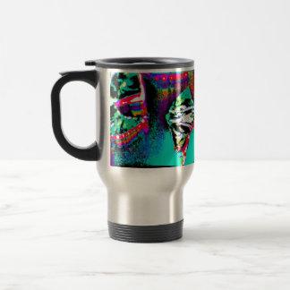 Tasse avec l'image abstraite