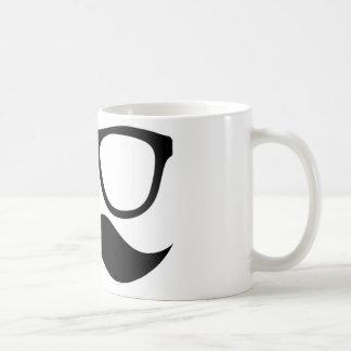 Tasse blanche classique de moustache finale de