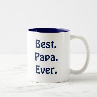 """Tasse blanche et bleue du """"meilleur papa jamais"""""""