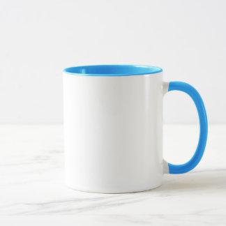 Tasse bleue d'anneau de petit déjeuner de geek