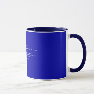Tasse bleue de la mort