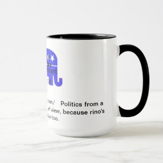 tasse bleue d'éléphant