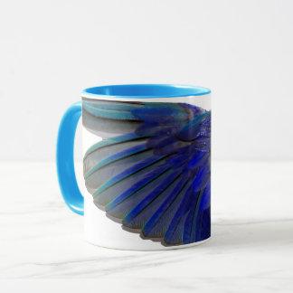 Tasse bleue Pacifique de tasse de sonnerie d'aile