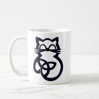 Tasse celtique de chat de noeud noir de trinité