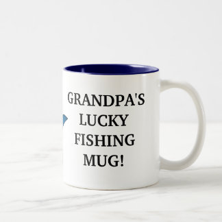 Tasse chanceuse de la pêche du grand-papa