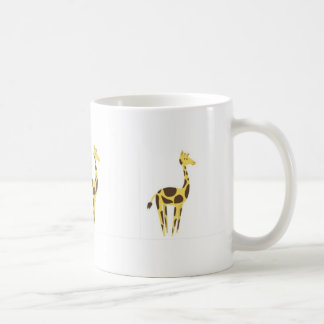 Tasse classique blanche de girafe