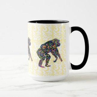 Tasse colorée de chimpanzé