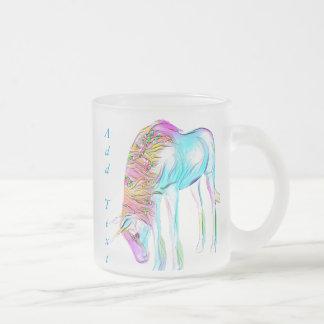 tasse colorée de licorne