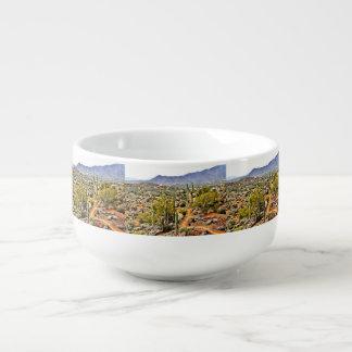 Tasse croisée de soupe à paysage de ranch de dent