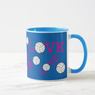 Tasse d'amour de volleyball
