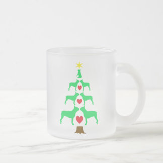 Tasse d'arbre de Noël de Boston Terrier