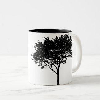 Tasse d'arbre et d'oiseaux