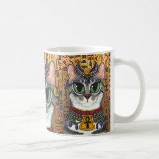 Tasse d'art de chat égyptien de Bastet de déesse