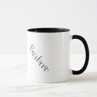 Tasse de Barbara en noir et blanc