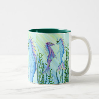 Tasse de beaux-arts de chat de sirène de dragon de