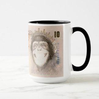 Tasse de billet de banque de chimpanzé