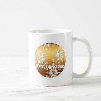 Tasse de blanc de flocons de neige de Joyeux Noël