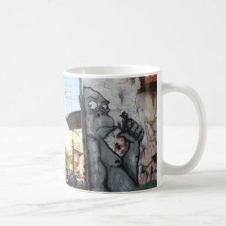 Tasse de café à la mode de gorille