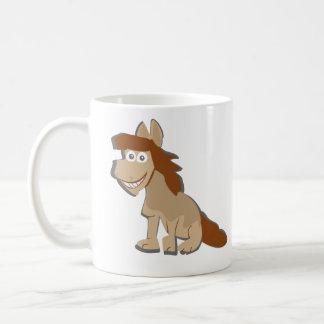 Tasse de café actionnée par cheval