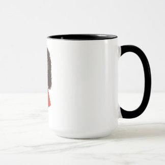 Tasse de café africaine de fille